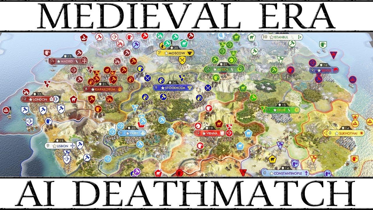 Civ 5: Medieval Era AI Only Deathmatch
