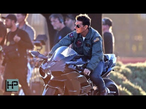 FIRST SHOTS - Tom Cruise on the Set of 'Top Gun: Maverick' - Sequel Now Filming
