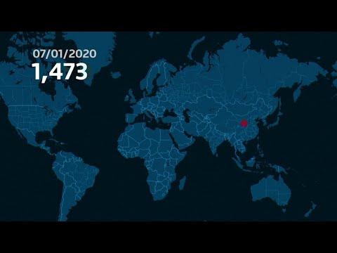 Cette carte montre la vitesse à laquelle le coronavirus s'est répandu dans le monde