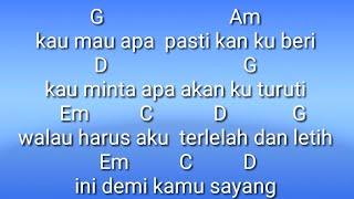 chord doaku untukmu sayang