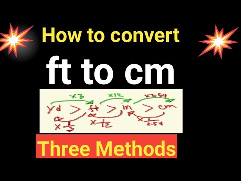 Convert Foot to Centimetre(ft to cm)-Formula,Conversion Factor||How to convert feet to centimeters thumbnail