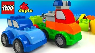 LEGO DUPLO - COMBINE AND CREATE MIGHTY MACHINES DUMP TRUCK TOW TRUCK POLICE CAR TRAILER ID 10552