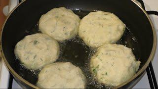 Как приготовить картофельные оладьи с начинкой
