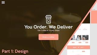 Web Design Speed art + Speed Code - Coffee Delivery Website (Part 1 of 2)