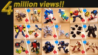 [LEGO Mini Robot Film] 56 lego mini robot moc animations! All my LEGO transformers and combiners!