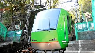 大山ケーブルカー中間駅、大山寺駅からの下り後方展望です。 お得な切符...