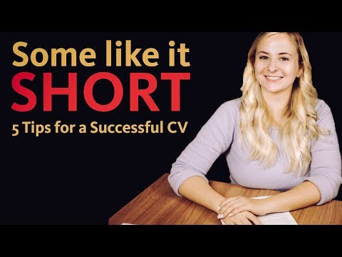 SOME LIKE IT SHORT: 5 Successful Resume Tips!