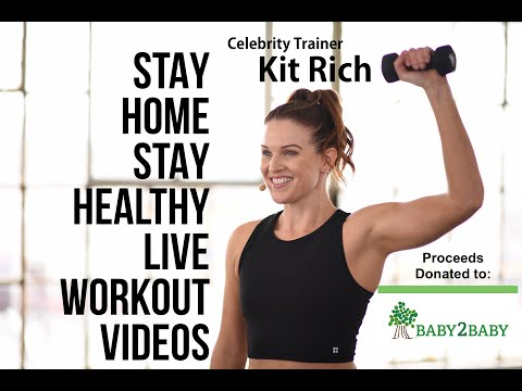 DAY 8PILATES/YOGA FLOW FUSION w/ Celebrity Trainer Kit RichSTAY HOME STAY HEALTHY30 min