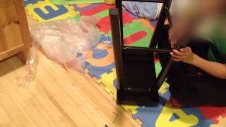 """Unboxing Taylor Metal Saddle Stool 24"""" For $13.50 With Coupon. Also Installation."""