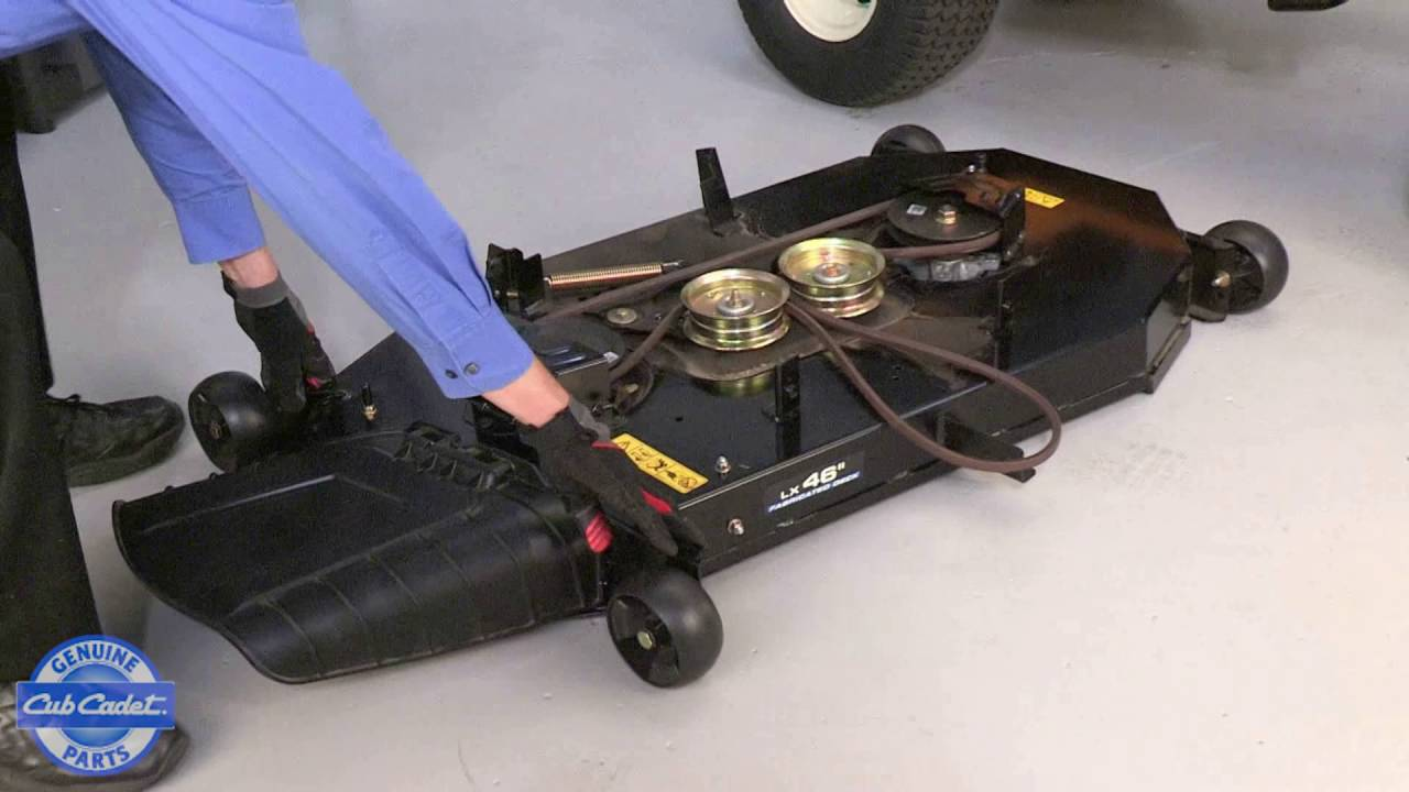 hight resolution of how to replace the cutting blade on xt enduro series riding mowers youtube