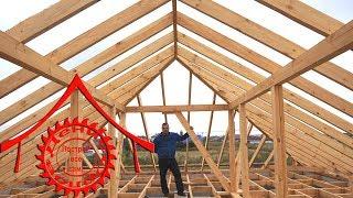 видео Устройство и монтаж стропильной системы четырехскатной крыши