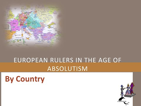 European Rulers in the age of absolutism