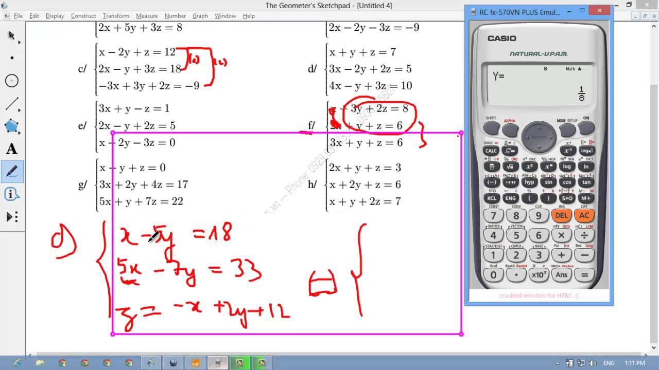 [TOÁN 10] III.D Bài 382 [HAY] Hệ phương trình 3 ẩn quy tắc chung khi giải  Hệ PT bậc nhất