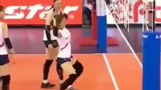 Asian Games 2018 : Atlet Volly Putri Jepang Dan Korsel Goyang Pantura