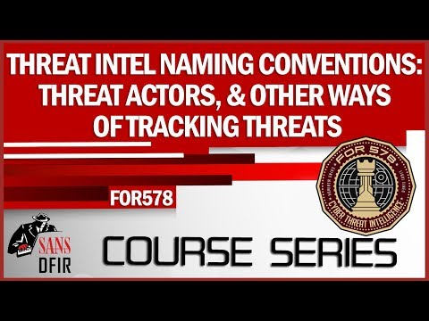 Threat Intelligence Naming Conventions: Threat Actors, & Other Ways of Tracking Threats