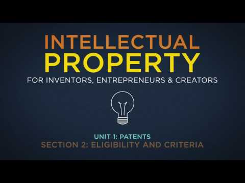 Lecture 9: Applying for a Patent