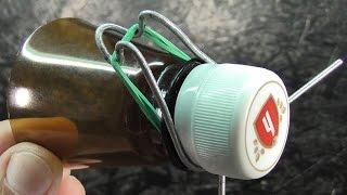 Простая конструкция мышеловки из горлышка бутылки