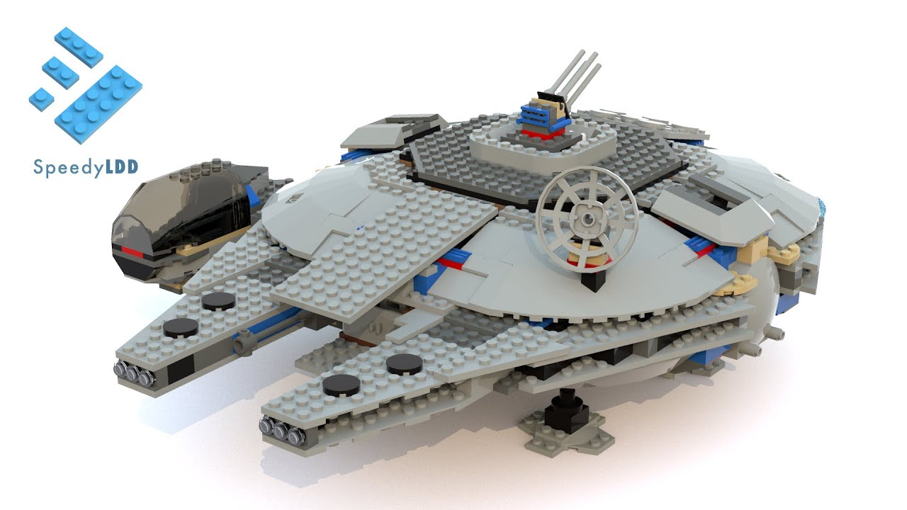 LEGO 7190 Millennium Falcon LDD Digital Speed Build