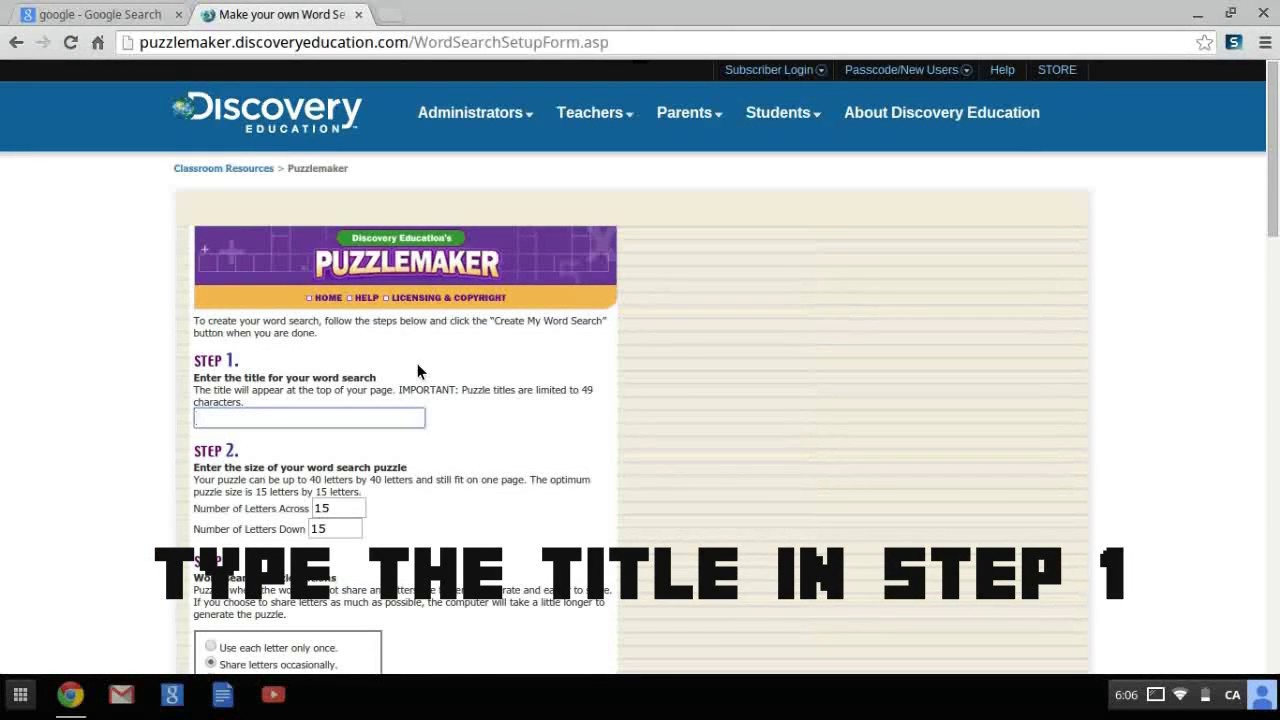 Free Word Search Maker Tutor Your Child