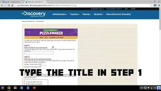 How To Make A Free Word Search Using Discovery Puzzlemaker