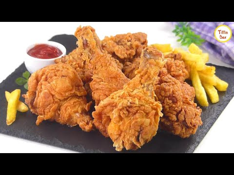 KFC Style Fried Chicken Recipe By Tiffin Box | Kentucky Fried Chicken, Spicy Crispy Chicken Fry