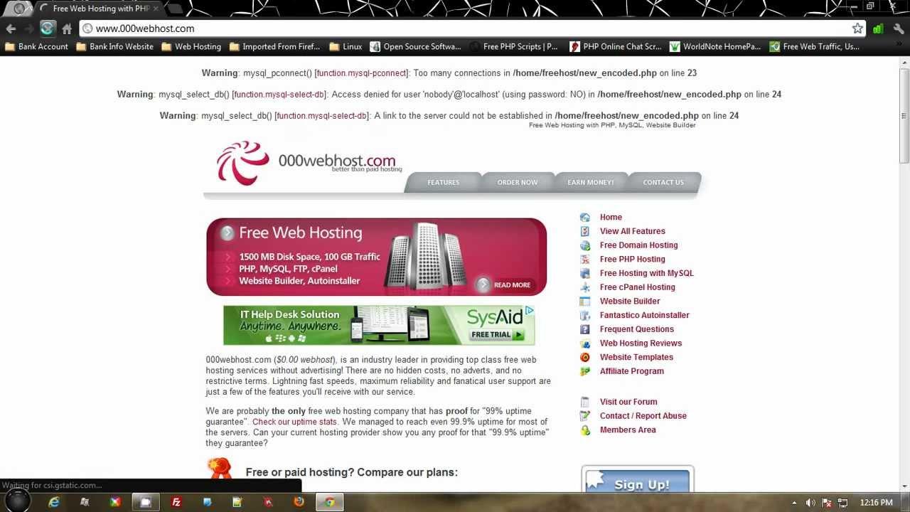 Бесплатный хостинг чата apache php и mysql как сделать локальную версию сайта