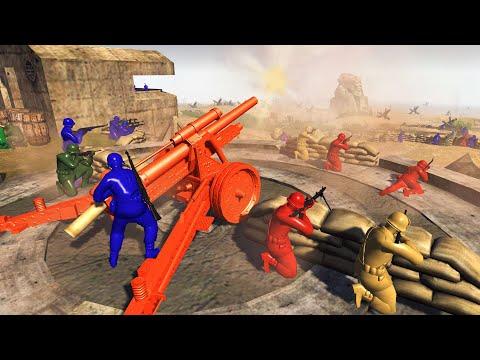 All ARMY MEN Armies BEACH DEFENSE! - Men of War: Army Men Mod Battle Simulator