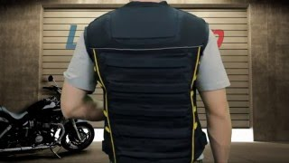 Xelement Men's Padded Vest with Tri-Tex Fabric and Mesh at LeatherUp