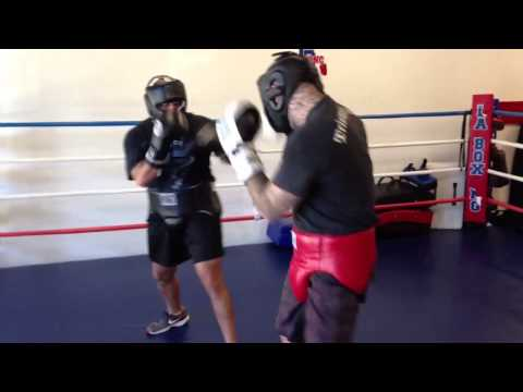 Alan Roach Sparring Anthony Day 01-12-13