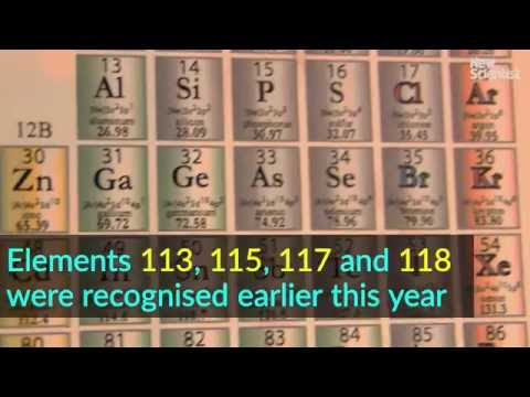 the four elements which complete the seventh row of the periodic table were officially recognised in january this year following discoveries by teams in