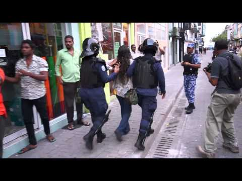 President Nasheed's legal advisor Madam Hisaan arrested with excessive force