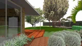 Vectorworks landmark 3D Garden Walk through