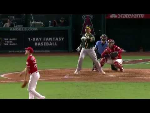Bruce Maxwell laces a two-run home run