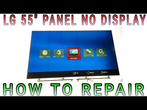"LG TELEVISION 55"" PANEL PROBLEM NO DISPLAY HOW TO FIX"