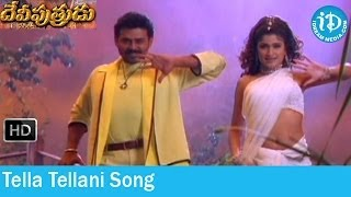 Video Tella Tellani Song - Devi Putrudu Songs - Venkatesh - Anjala Zaveri - Soundarya - Mani Sharma Songs download MP3, 3GP, MP4, WEBM, AVI, FLV November 2017