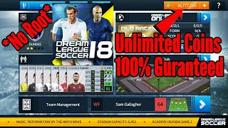 Hack Dream League Soccer 2018 in 2 minutes 100% Work | MOD 5.0 Unlimited Coins |