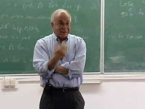 History and Rationality Lecture Series - Daniel Kahneman