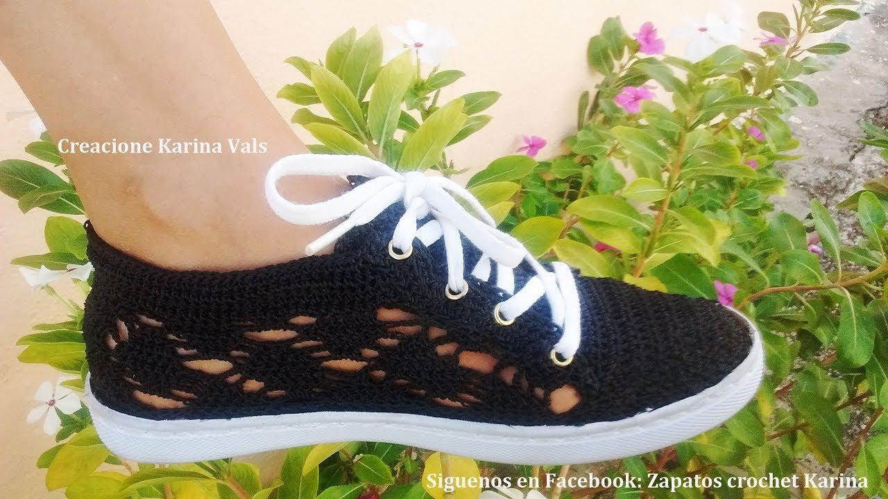 Todo tipo de zapatos tejidos a crochet