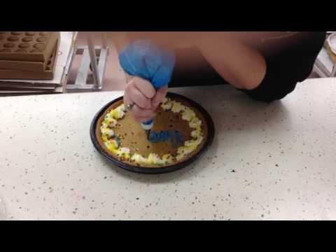 American Cookie Cake Decoration. Happy Birthday!