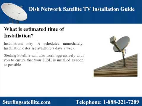 dish network satellite tv installation guide youtube. Black Bedroom Furniture Sets. Home Design Ideas