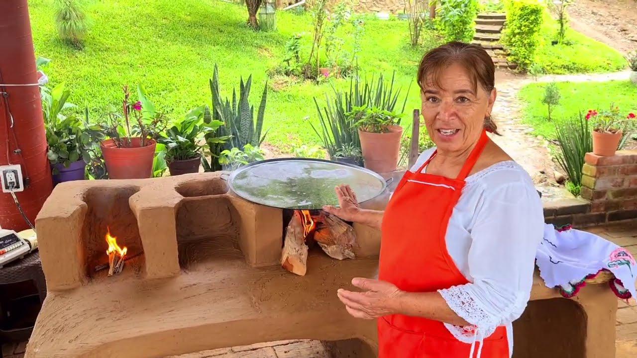 Tortillas calientitas recien hechas en el rancho estreno del el pretil