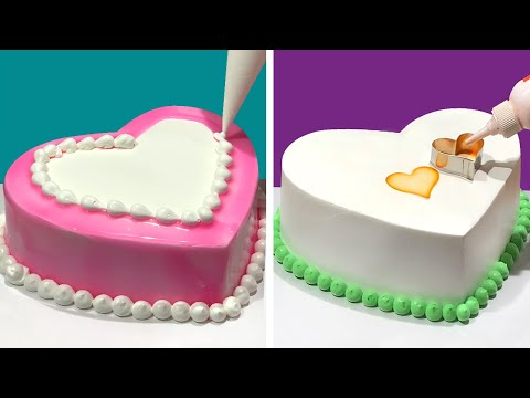 TOP 5 HEART Cake Decorating Ideas for Your Love   Most Satisfying Heart Cake Decorating Tutorials