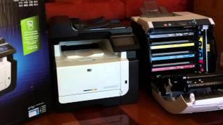 HP Laserjet Pro CM1415FN printer and my old Hp 3600n laserjet