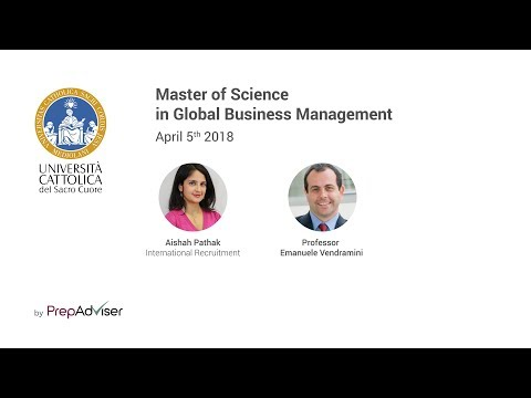 Master of Science in Global Business Management