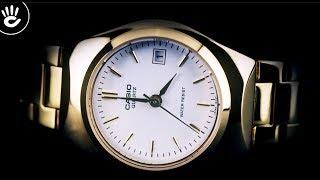Review Đồng Hồ Casio LTP-1170N-7ARDF thời trang mạ vàng kiểu máy pin mỏng 7mm