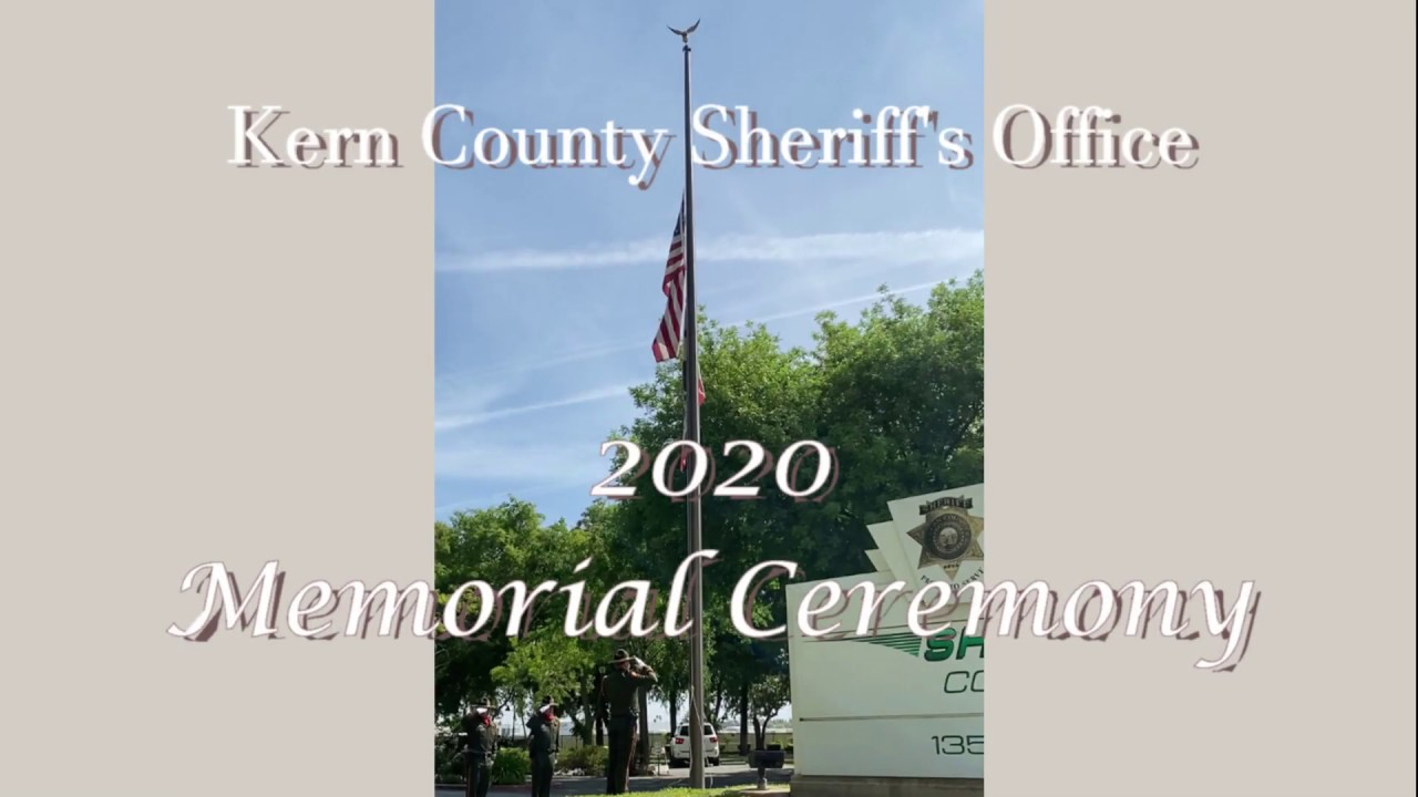 Kern County Sheriff's Office Peace Officer Memorial 2020