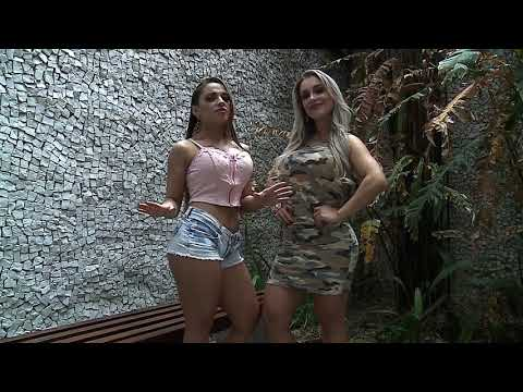 Brazilian girls take off clothes in front of men in elevator - English Version