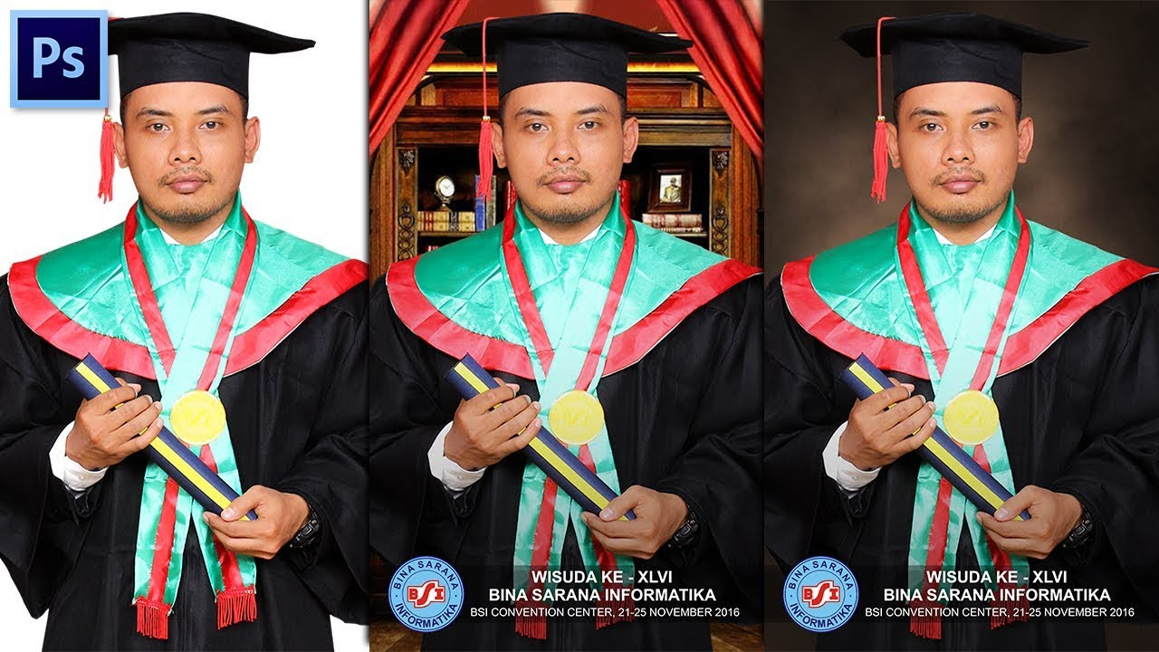 Cara Edit Foto Wisuda di Photoshop - YouTube