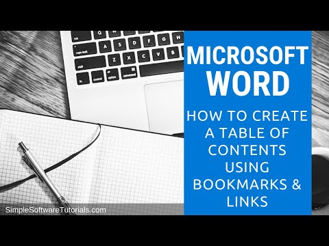 How to create a bookmarks in word 2020
