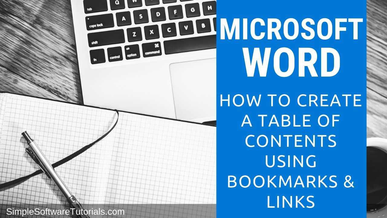 microsoft word how to make table of contents